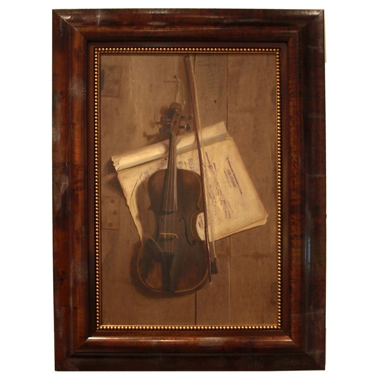 19th century Oil Painting on Board