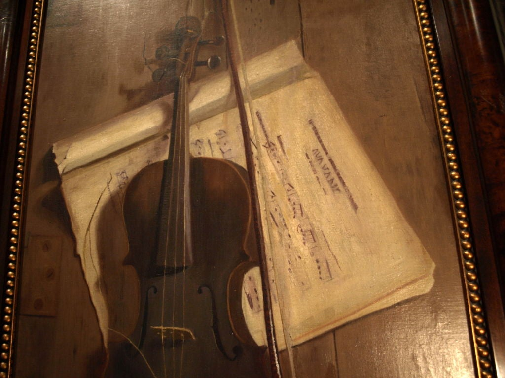 19th century Oil Painting on Board In Excellent Condition For Sale In Cathedral City, CA
