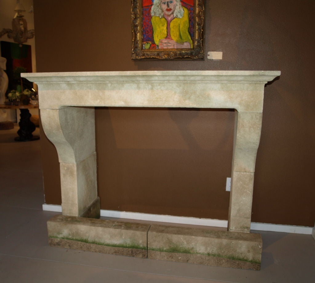 19th C French Limestone Fireplace At 1stdibs
