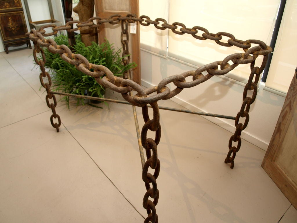It Took 25 Feet Of Large Size, Heavy Duty Steel Chain Link Rope,(
