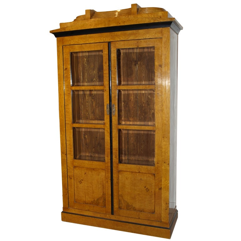 Beveled Glass Kitchen Cabinet Doors: Biedermeier Cabinet With Beveled Glass Doors At 1stdibs
