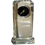 Modern Lucite Mantle Clock