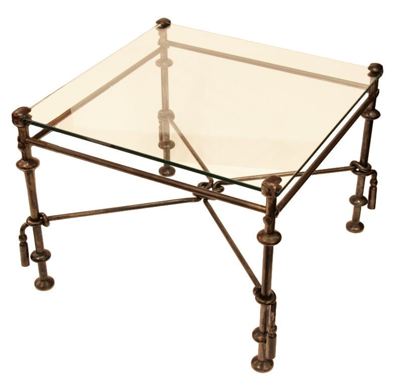 Pair of forged iron coffee tables at stdibs