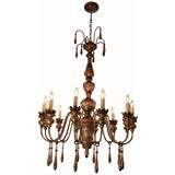 Italian Antique Silver Leafed Chandelier