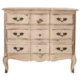 French Antique Louis XV Hand Painted Chest