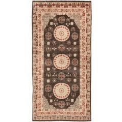 Antique Khotan Carpet, East Turkestan