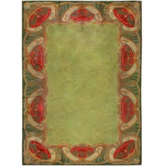 Art Nouveau Irish Donegal Rug / Carpet