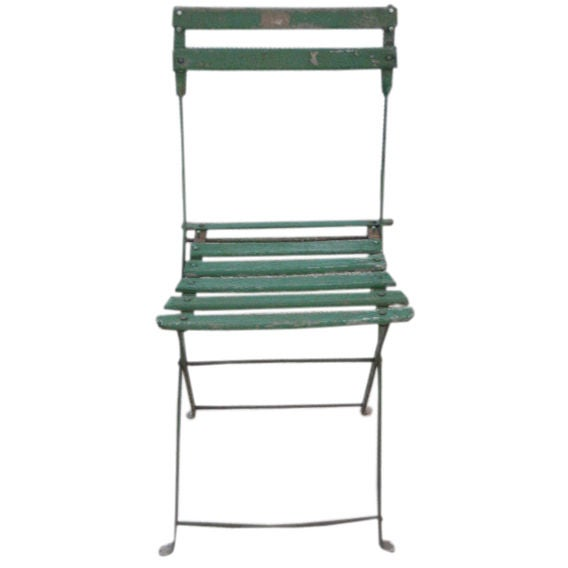 set of vintage green bistro chairs 1 - Bistro Chairs