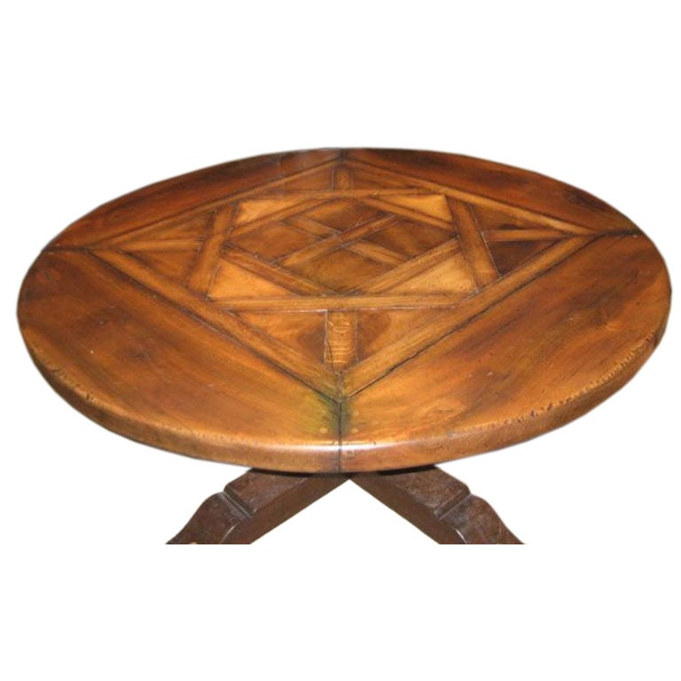 Round Marquetry Table