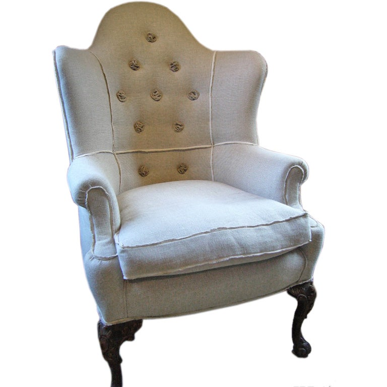 Queen Anne Style Corner Chair At 1stdibs