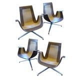 FK Leather Bucket Chairs