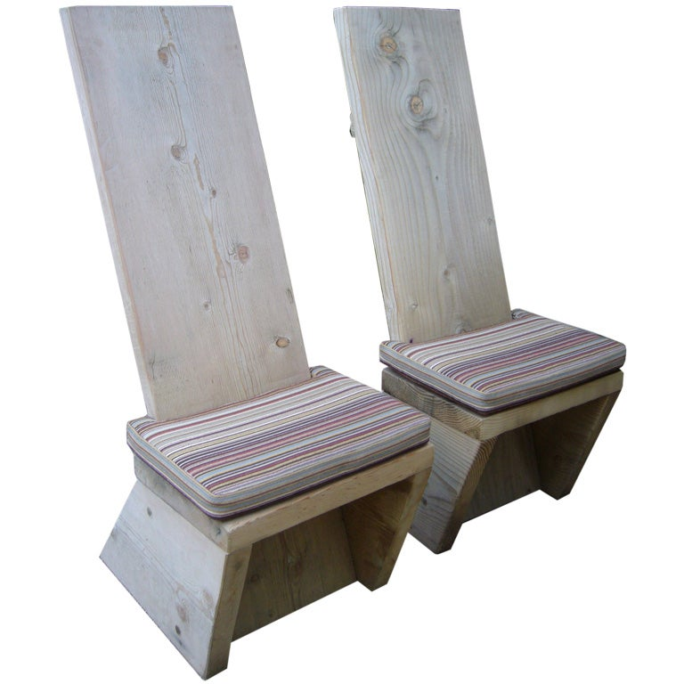Ron Mann Highback Plank Chairs 1