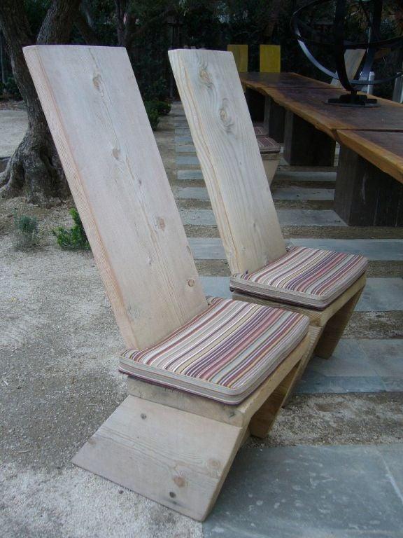 Ron Mann Highback Plank Chairs 2