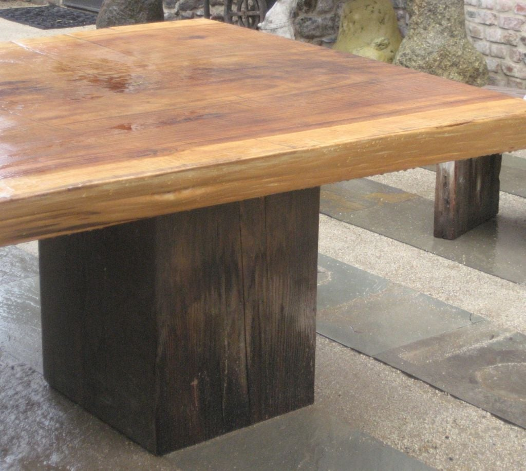 Ron Mann Redwood Table For Sale At 1stdibs