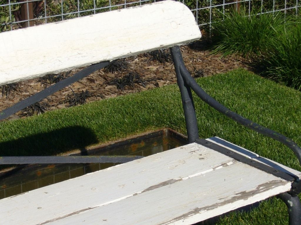 Black And White Garden Bench At 1stdibs