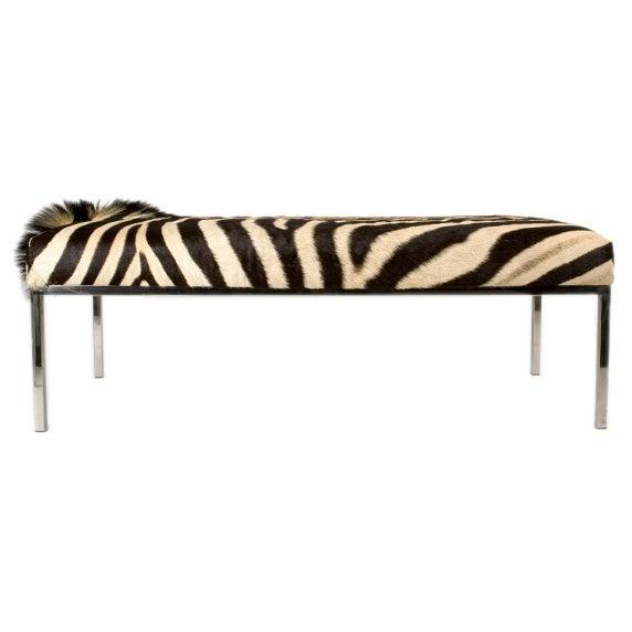 Zebra Hide Bench At 1stdibs