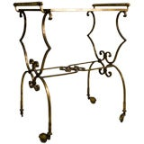 Gilded Wrought Iron Serving Cart