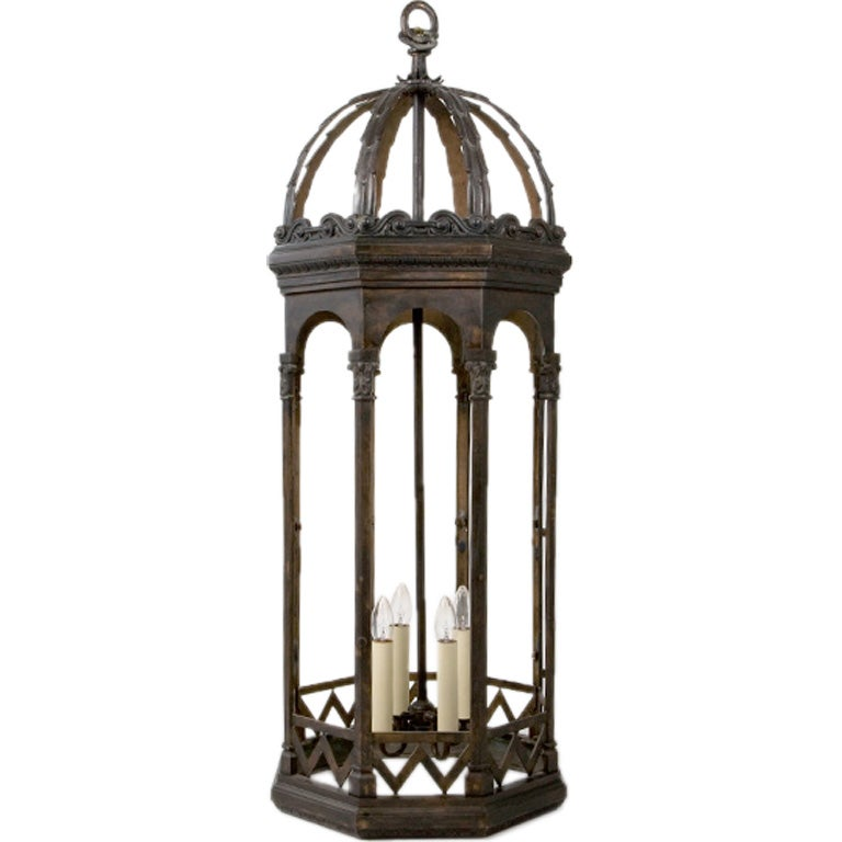 Large Scale Bronze Lantern For Sale