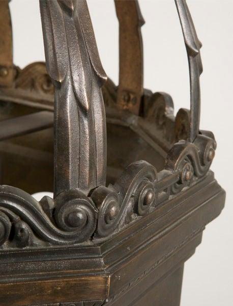 Classic bronze octagonal entrance lantern.