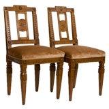 Pair of Italian Neoclassical Sidechairs
