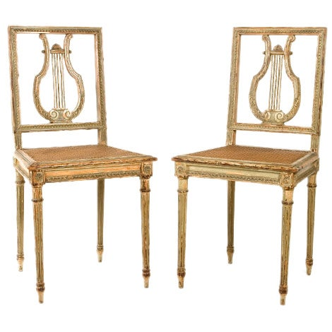 Pair Of French Neoclassical Side Chairs At 1stdibs