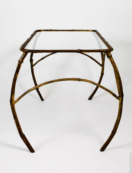 20th Century Gilt Metal Nesting Tables For Sale