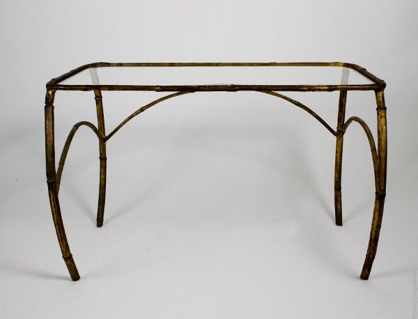 Gilt Metal Nesting Tables For Sale 1