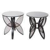 Pair of Industrial Chic Metal Occasional Tables