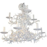 Two Tiered Faux White Coral Chandelier
