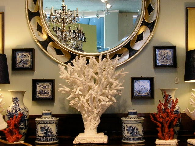 Real and natural white branch coral centerpiece at stdibs