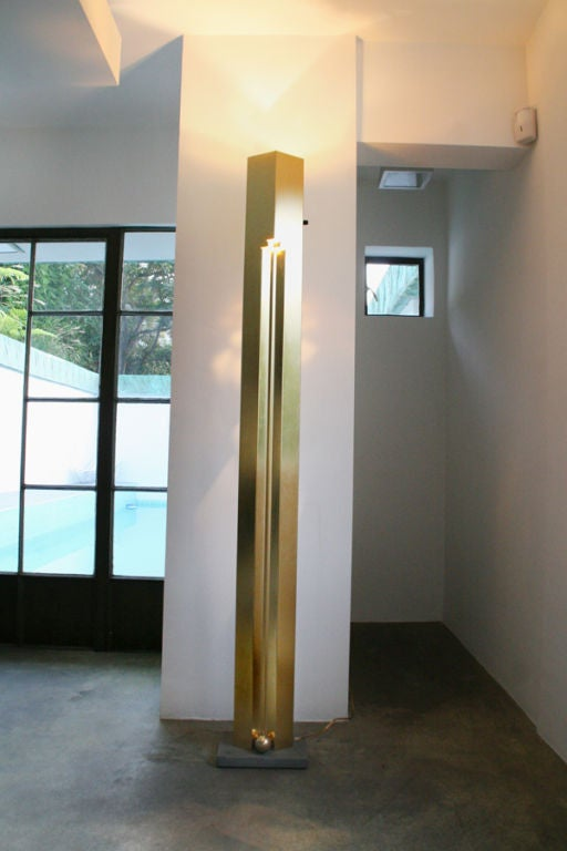 Kazuhide Takahoma Brass Totem Floor Lamp By Sirrah Italy