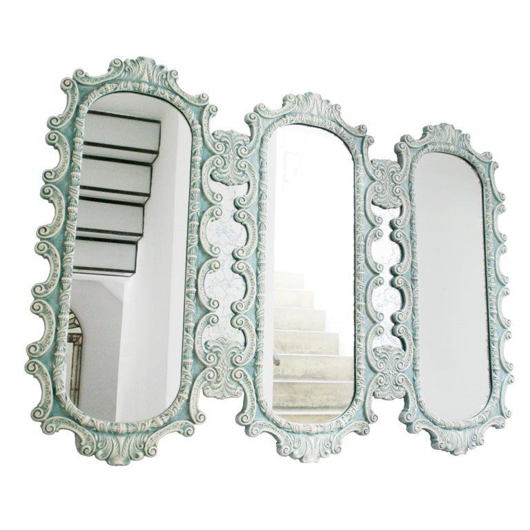 Source: 1stdibs.com -Ornate 1950's triple wall mirror