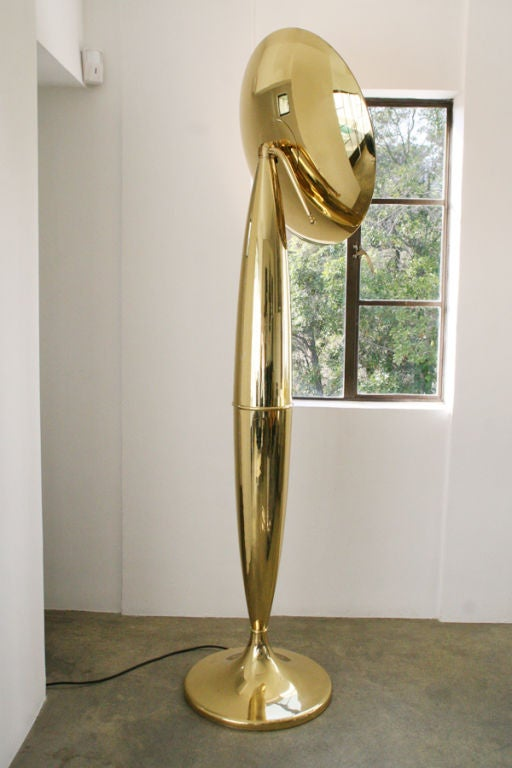 6 ft 7quot tall italian polished brass murano floor lamp at With 8 ft floor lamp