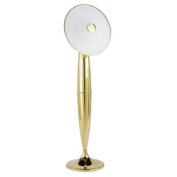 6 ft 7quot tall italian polished brass murano floor lamp at for Hyatt 6 light floor lamp brass