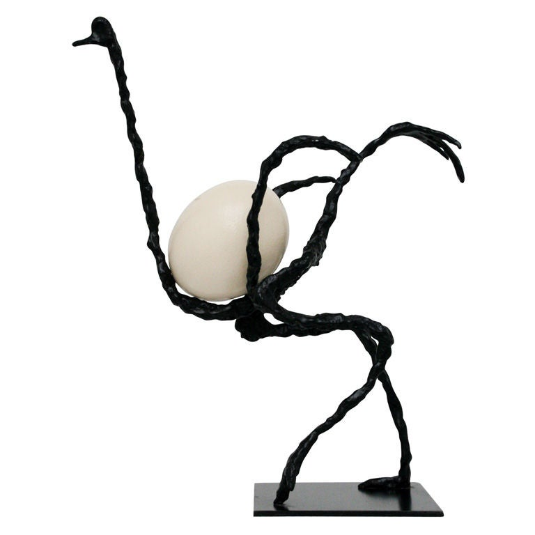 Ostrich Sculpture After Diego Giacometti At 1stdibs