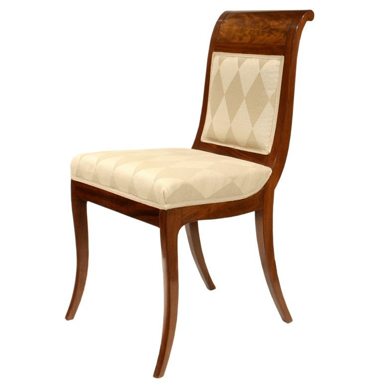Single Biedermeier Dining Chair At 1stdibs