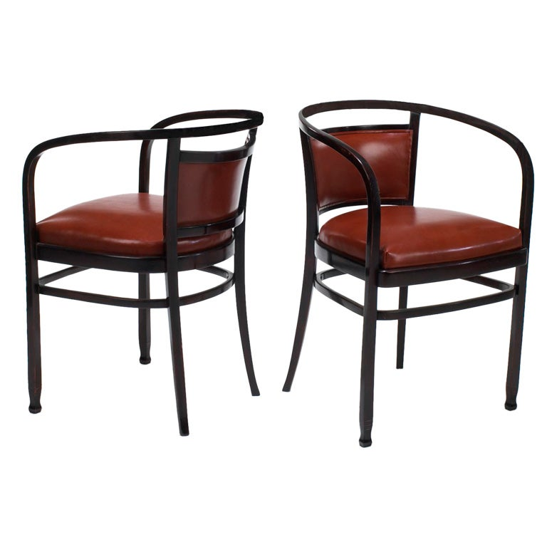 Nice Pair Of Otto Wagner Arm Chairs (Made By J And J Kohn) At 1stdibs