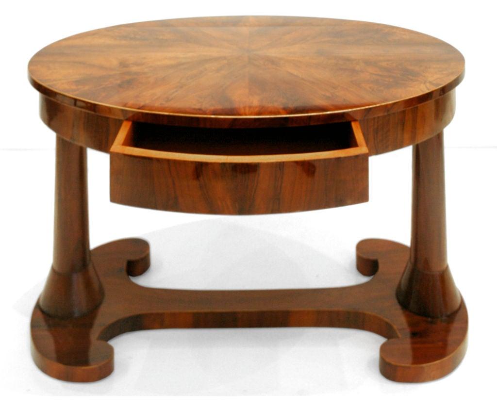 Oval Biedermeier Table Or Desk At 1stdibs
