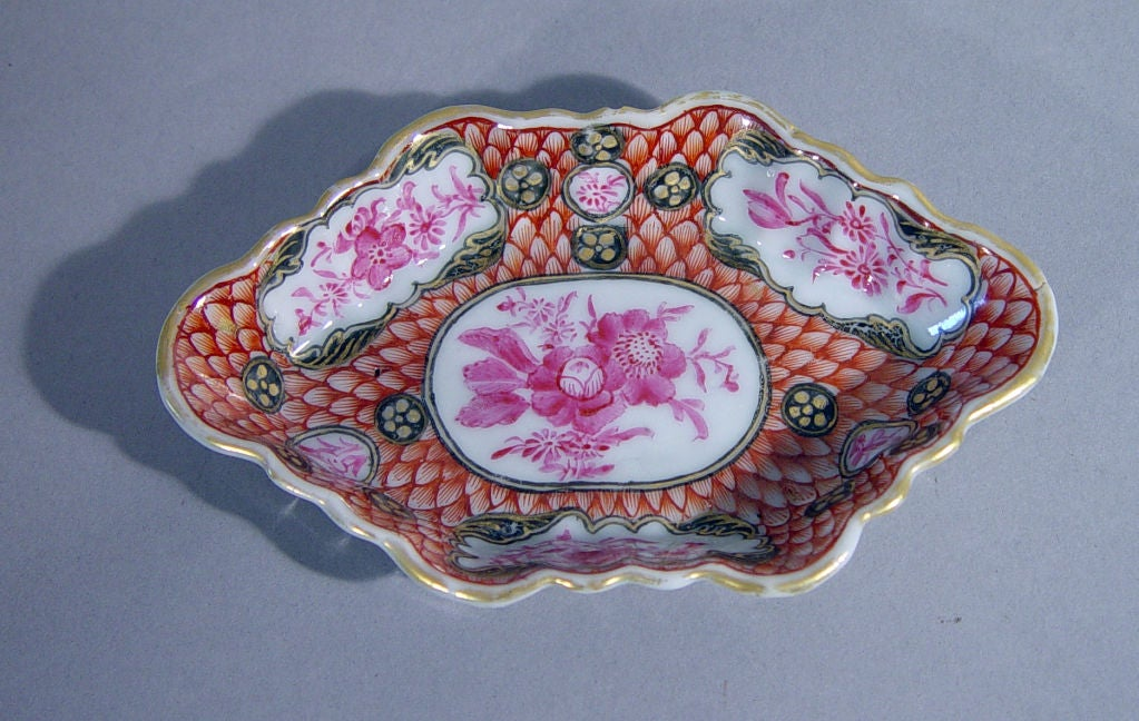 18th Century Chinese Export Coral and Puce Porcelain Tea Service For Sale 1