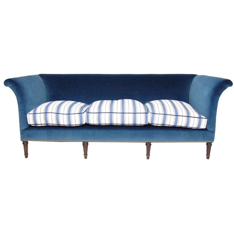 A Classic Edwardian Mahogany Sofa Upholstered by Branca 1