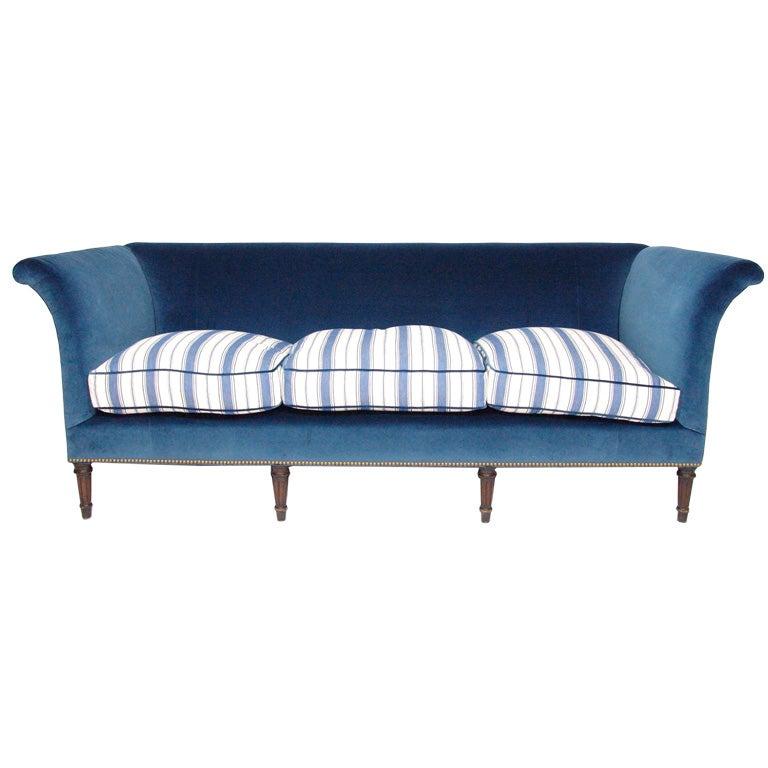 A Classic Edwardian Mahogany Sofa Upholstered by Branca