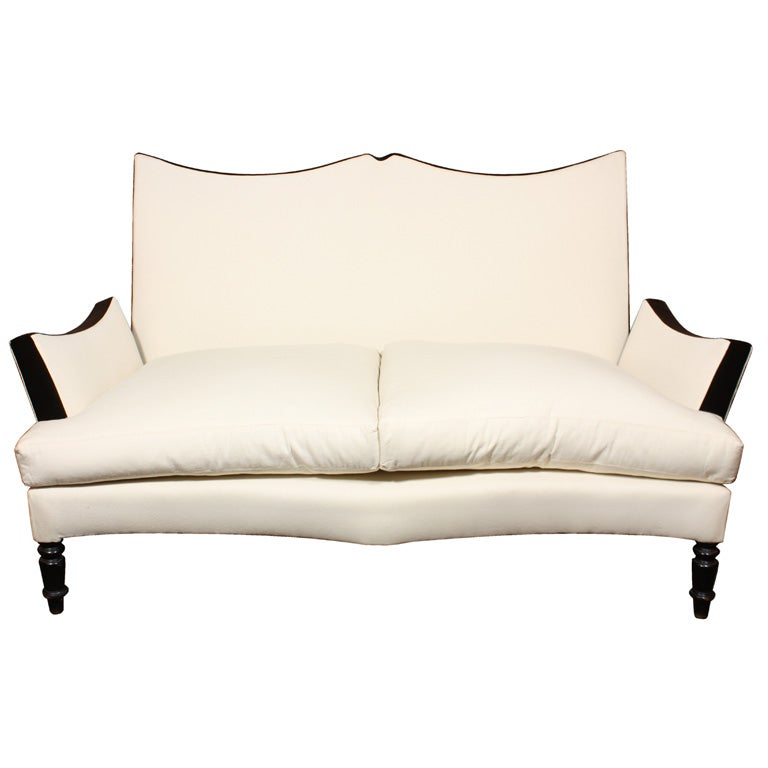 An Exceptional Napoleon III Settee with Branca Signature Fabric