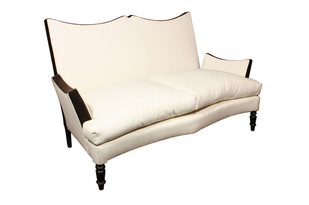 An Exceptional Napoleon III Settee with Branca Signature Fabric 2