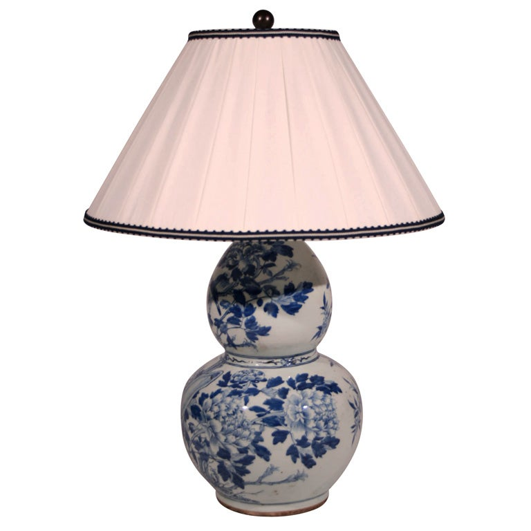a blue and white delft porcelain vase mounted as a lamp at. Black Bedroom Furniture Sets. Home Design Ideas