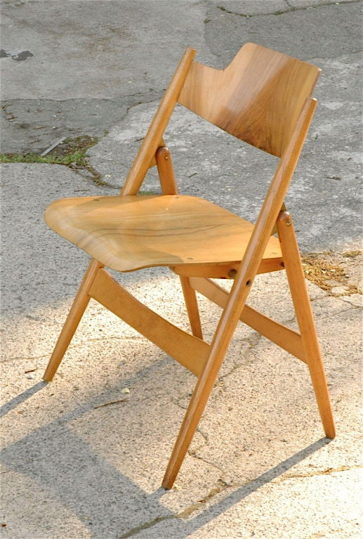 vintage folding chair by egon eiermann for sale at 1stdibs. Black Bedroom Furniture Sets. Home Design Ideas