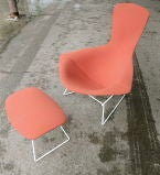 Vintage Bird Chair and Ottoman by Harry Bertoia thumbnail 8
