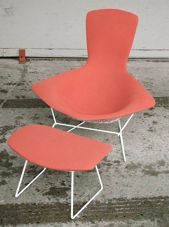 Vintage Bird Chair and Ottoman by Harry Bertoia image 5