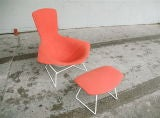 Vintage Bird Chair and Ottoman by Harry Bertoia thumbnail 2