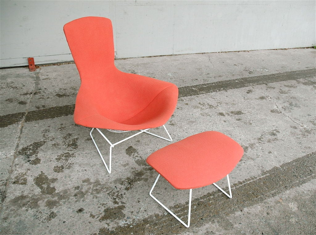 Vintage Bird Chair and Ottoman by Harry Bertoia image 2