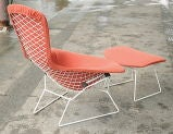 Vintage Bird Chair and Ottoman by Harry Bertoia thumbnail 4